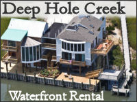 deep hole creek waterfront rental banner